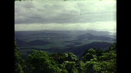View from a Hill in Northern Queenslad of the Landscape and Ocean (1983 8mm Film Footage) Footage