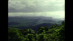 View from a Hill in Northern Queenslad of the Landscape... Stock Video Footage