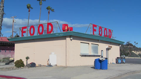 A food stand at the beach Stock Video Footage