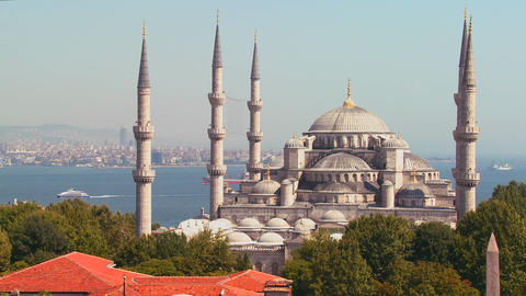 The Blue Mosque in Istanbul, Turkey Footage