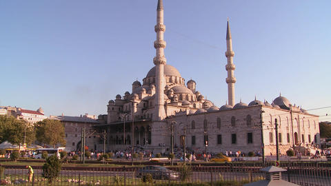 Boats passing in front of the mosques of Istanbul, Footage
