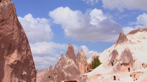 Beautiful time lapse clouds over the rock formatio Footage