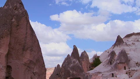 Beautiful time lapse clouds over the rock formatio Stock Video Footage