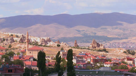 Beautiful time lapse clouds over Cappadocia, Turke Stock Video Footage