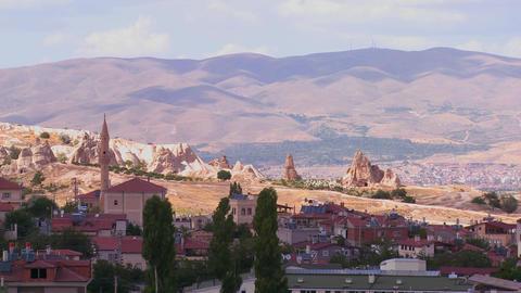 Beautiful time lapse clouds over Cappadocia, Turke Stock Video Footage