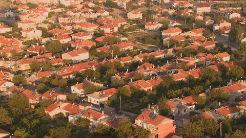 An aerial perspective over a neighborhood Footage