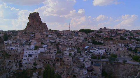 Time lapse of a village in Central Turkey in the r Footage