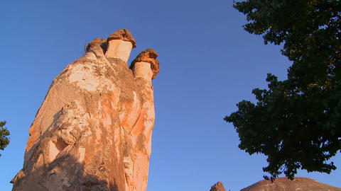 Low angle of bizarre geological formations at Capp Stock Video Footage