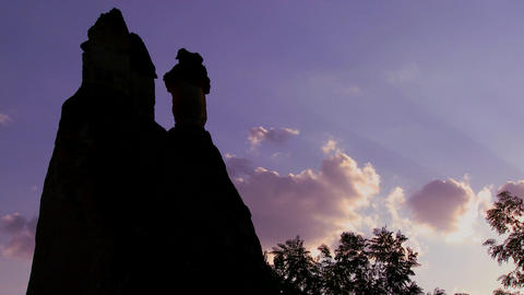Time lapse of bizarre geological formations at Cap Stock Video Footage