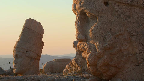 Detail of the great archeological ruins on the top Footage