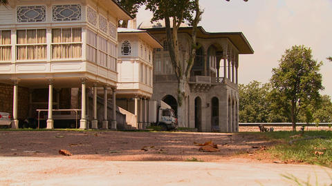 Colonial Mansion Or Estate In Ottoman Style stock footage