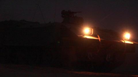 An Israeli army patrol moves along the Israel Gaza Strip border Footage