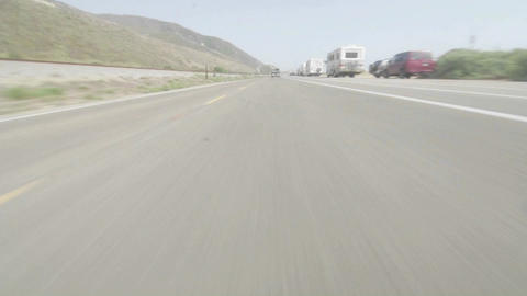 Time lapse point of view of a car driving Stock Video Footage