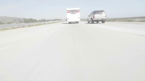 Time lapse point of view of a car driving Footage