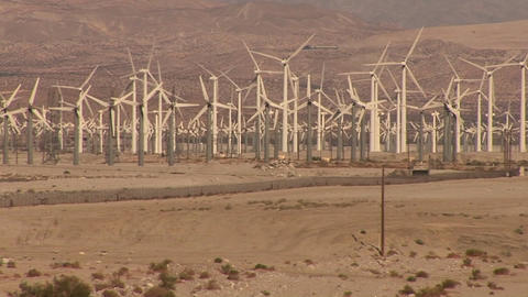 Many windmills rotate in a breeze Stock Video Footage