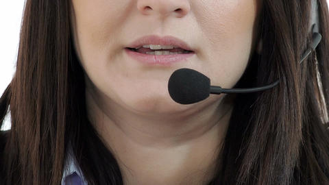 portrait of a call center operator: customer care, secretary businesswoman Footage