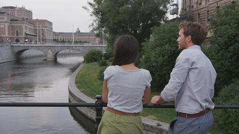 Urban people lifestyle - young couple in Stockholm Live Action