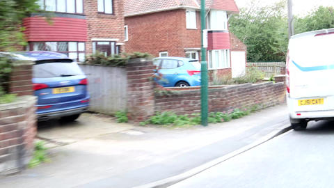 Driving Down A Street In The UK Live Action