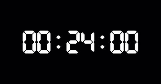30 seconds countdown timer of led electronic white digits Animation