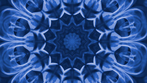 Hypnotic caleidoscope abstract pattern motion background - dark blue pattern Live Action