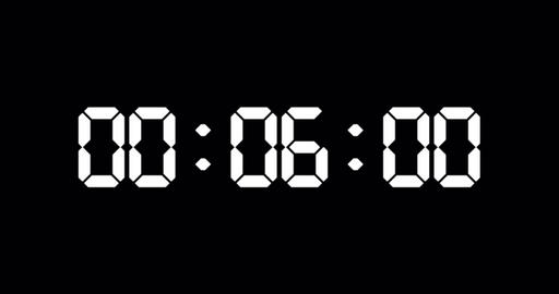 30 seconds counter of led electronic white digits Animation