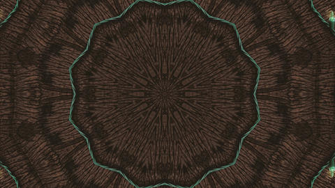 Hypnotic caleidoscope abstract pattern motion background - brown green pattern Live Action