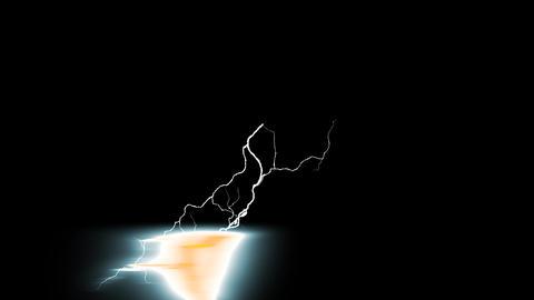 Digital Rendering Lighting Strike Electric Charge Video Animation