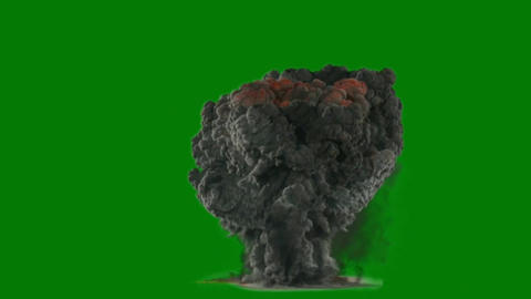 Fire blast motion graphics with green screen background Animation