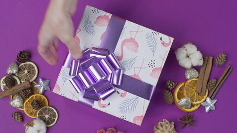 Wrapping the present parcel decoration box with presents 3 Live Action