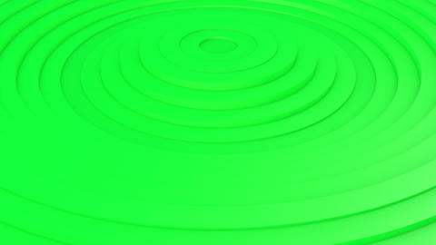 Movement of green rings. 3d animation Videos animados