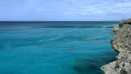 Crystal Clear Turquoise Sea, panning shot Footage