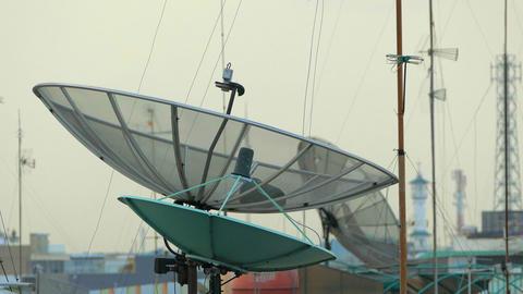 Satellite Antennas on Roofs Footage