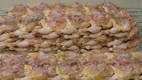 Raw chicken ready for cooking Footage