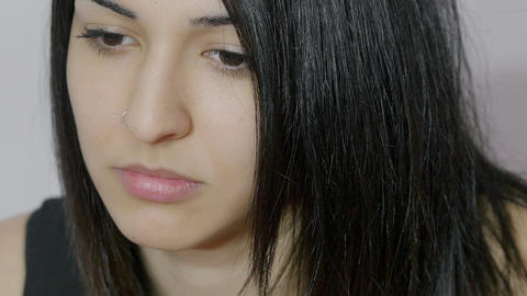 depressed woman: sad and depressed girl Footage