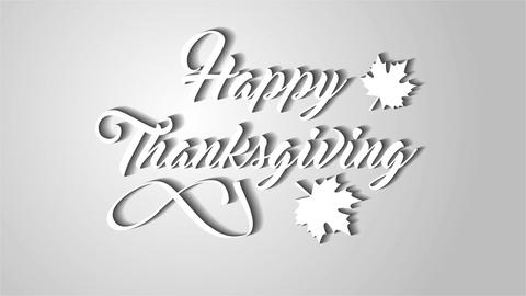 4K Thanksgiving greeting card with Happy Thanksgiving animation lettering text.  Animation