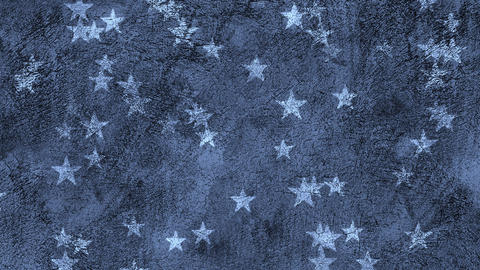Stars On Grunge Background Loop Animation