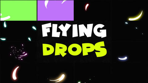 Flying Drops Motion Graphics Template