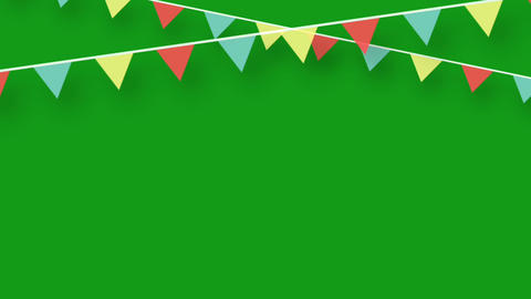 Festival decoration motion graphics with green screen background CG動画