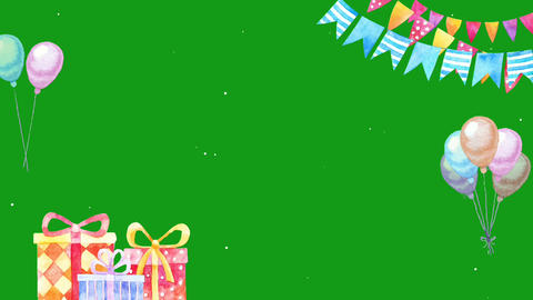 Festival decoration motion graphics with green screen background Animation