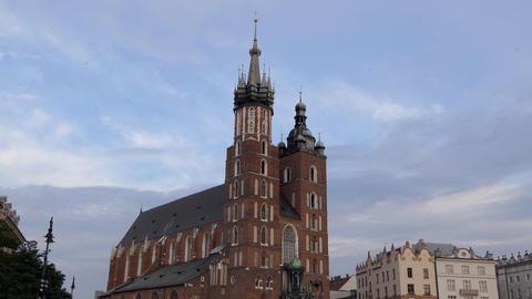 7 Saint Mary Basilica In Market Square Krakow Poland Live Action