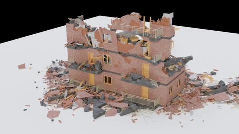 Collapsed Building 3D Model