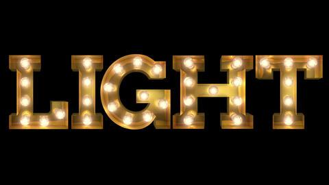 Light bulb letter tow way blinking aktion spelling the word Light CG動画