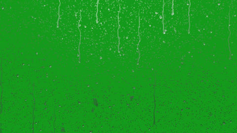 Falling rain drops motion graphics with green screen background Animation