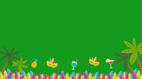 Festival celebrations motion graphics with green screen background Animation