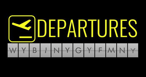 text flip of board of airport billboard with words name holiday time, travel, holiday and Live Action