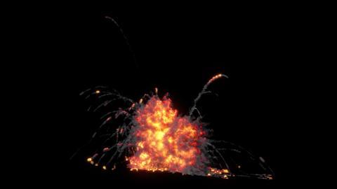 Shrapnel Explosion Animation