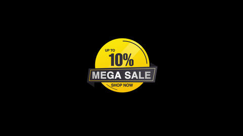 10% Percent Sales Discount Banner Animation with QuickTime / Alpha Channel / Prores 4444 애니메이션