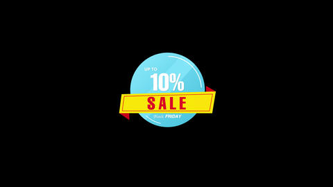 10 Percent Sales Discount Banner Animation with QuickTime / Alpha Channel / Prores 4444 애니메이션
