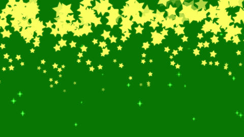 Yellow Stars on green background Videos animados