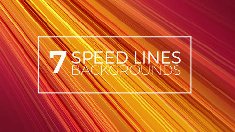 7 Speed Lines Backgrounds After Effects Template